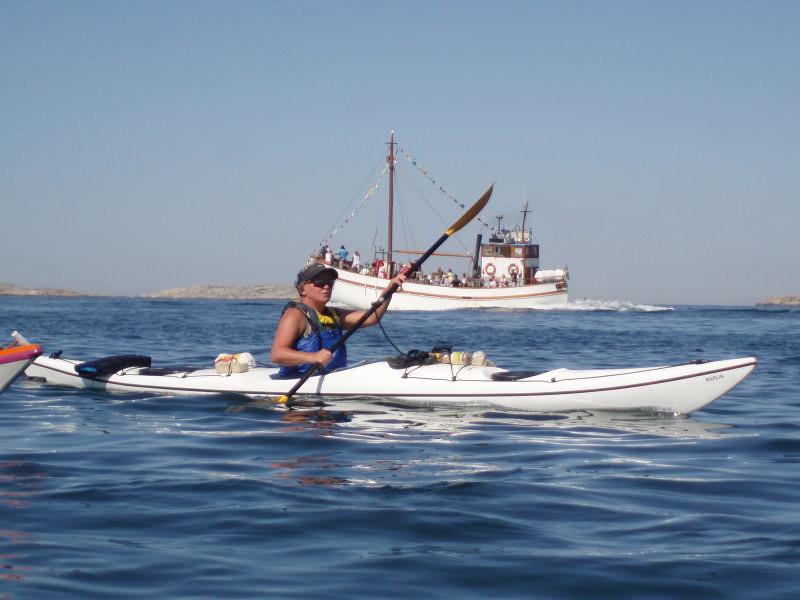 Pia och turbåt