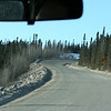 A first look at the unpaved Dalton Highway - it was made by the construction of the Trans Alaska Pipeline