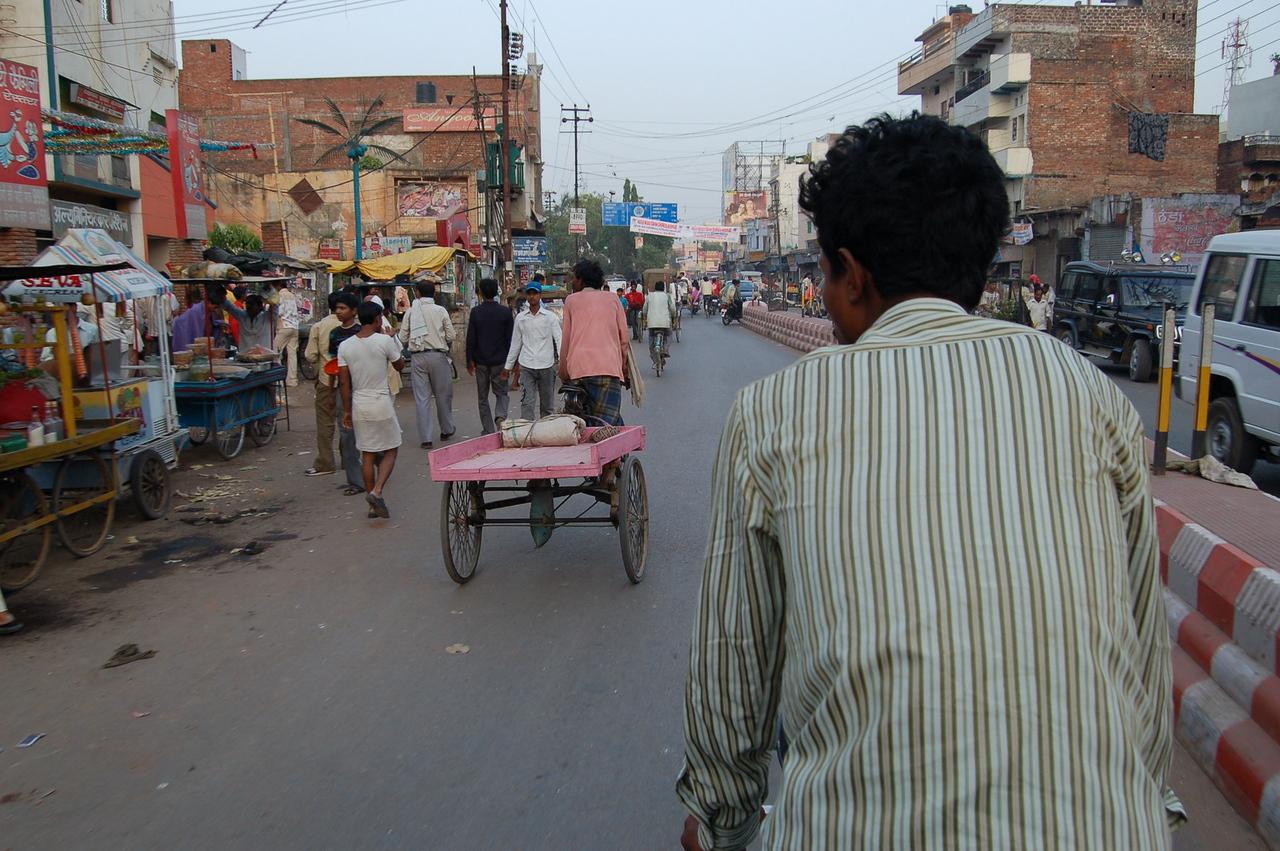 On a cycle rickshaw