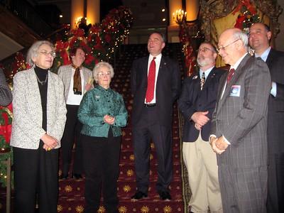 Governor Tim Kaine congratulates the electors