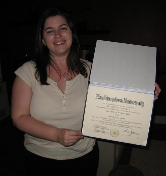 That's Dr. Melissa to you! Here she is with the proof.