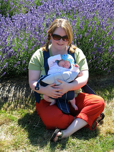 Mom and Flora with Lavender