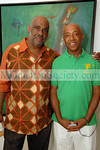 Danny Simmons, Russell Simmons at WALK TALL GALLERY in East Hampton for   DANNY SIMMONS 'SOLO' Opening