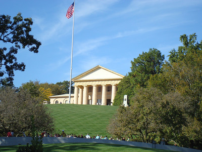 Arlington National Cemetery. Where Kennedy and family are buried. I didn't go up the hill to see it, but will go back sometime.