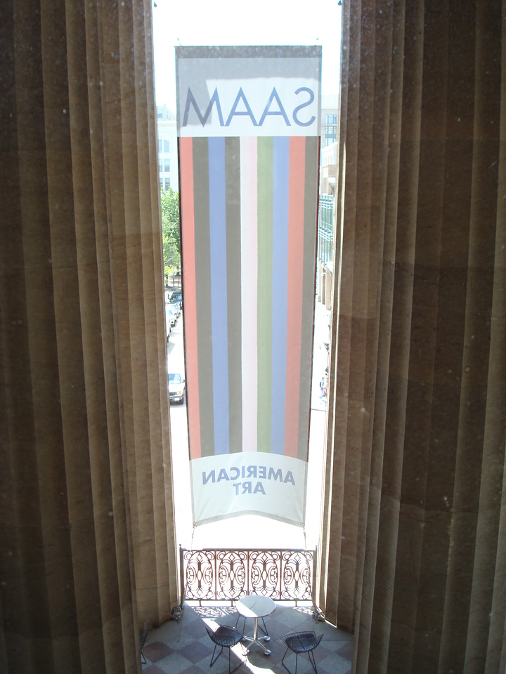 From a window at the Smithsonian American Art Museum