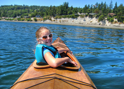 Elena was in the front of my double kayak