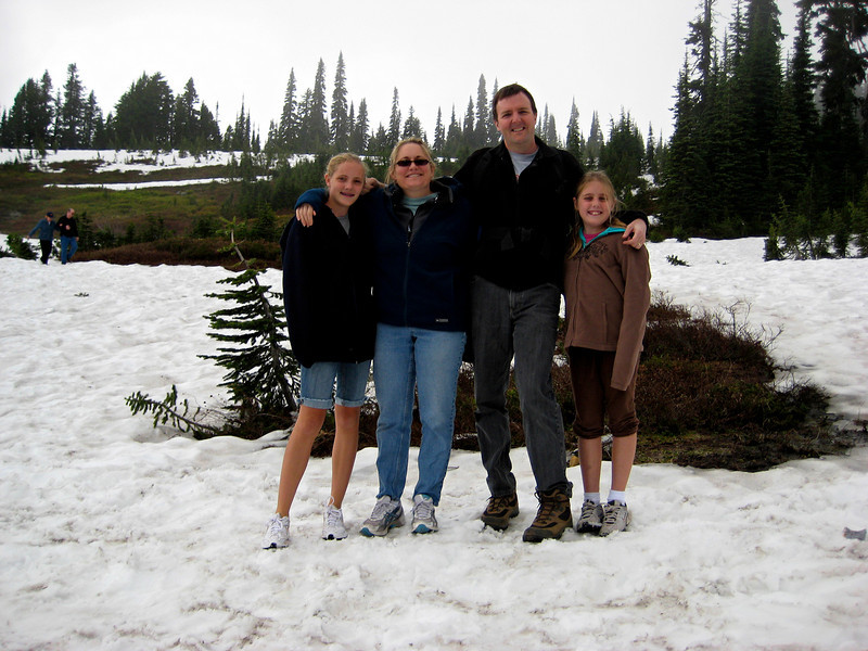 Look at all the snow at Paradise - in the last week of July!