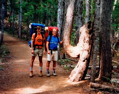 Dad and Rick at Elephant Tree, 1986