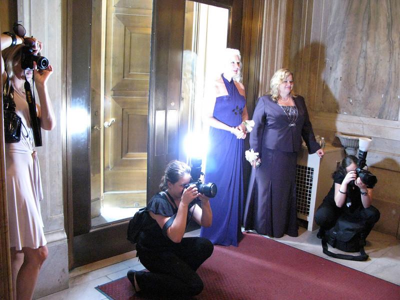 The wedding photographers hard at work