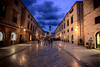 stradun at night dubrovnik croatia