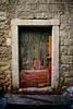 weathered door old town dubrovnik croatia
