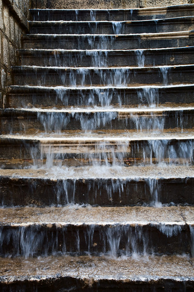 rain on stairs dubrovnik croatia