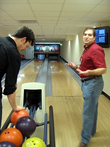Craig bowls a strike, but wishes it wasn't after the game ended.