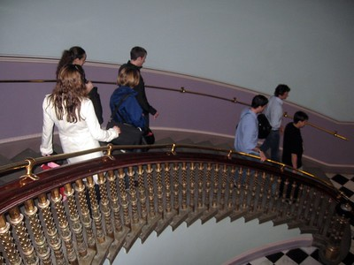 Descending into the bowels of the Eisenhower Executive Office Building