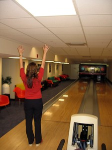 Elfije bowls a strike!