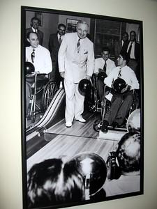 President President Harry S. Truman bowls