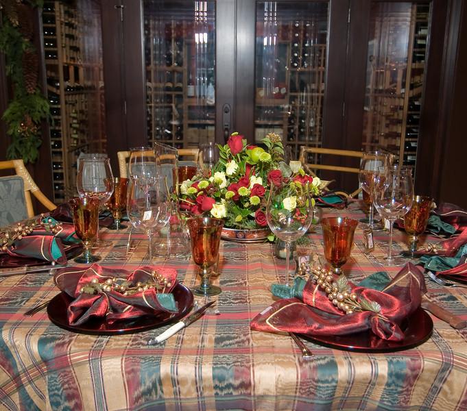 12-06-08 Xmas Party Table