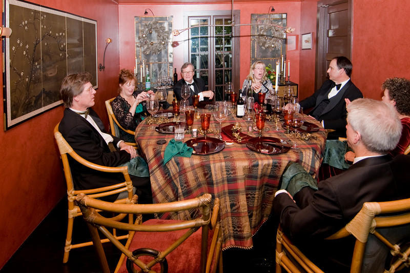 12-06-08 Xmas Party - Table Shot