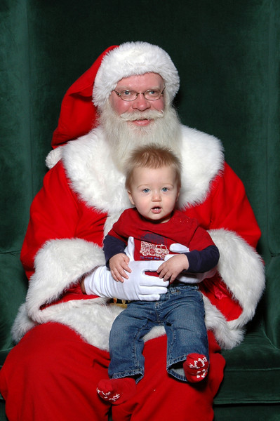 Zach told Santa he's been very good and that his only wish for Christmas is to be able to start walking! I think thats pretty possible!  ;)