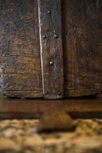 Side of wooden bread basket
