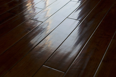 Detail hardwood floor