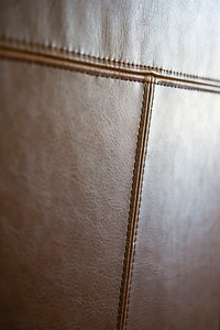 Detail brown leather furniture