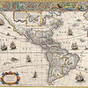 Antique Maps of the World<br /> The Americas<br /> Willem Blaeu<br /> c 1650