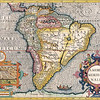 Antique Maps of the World<br /> The Americas<br /> Henricus Hondius<br /> c 1630
