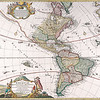 Antique Maps of the World<br /> The Americas<br /> Homanns Heirs<br /> c 1746