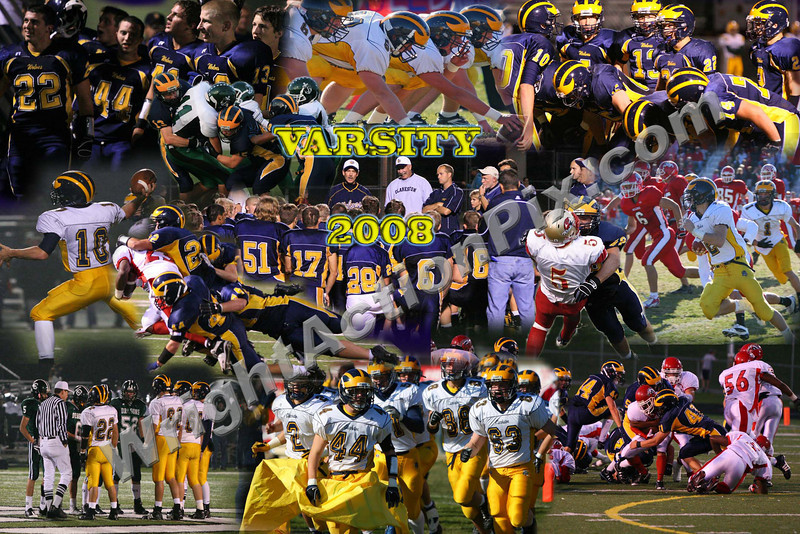 2008 Varsity Football Collage contributed by Sean Calvano - 100% of all proceeds from the sale of this image will benefit Clarkston Athletic Boosters.  Nice work Sean!