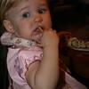 Big girl Ashleigh likes her 'bip' (dip)