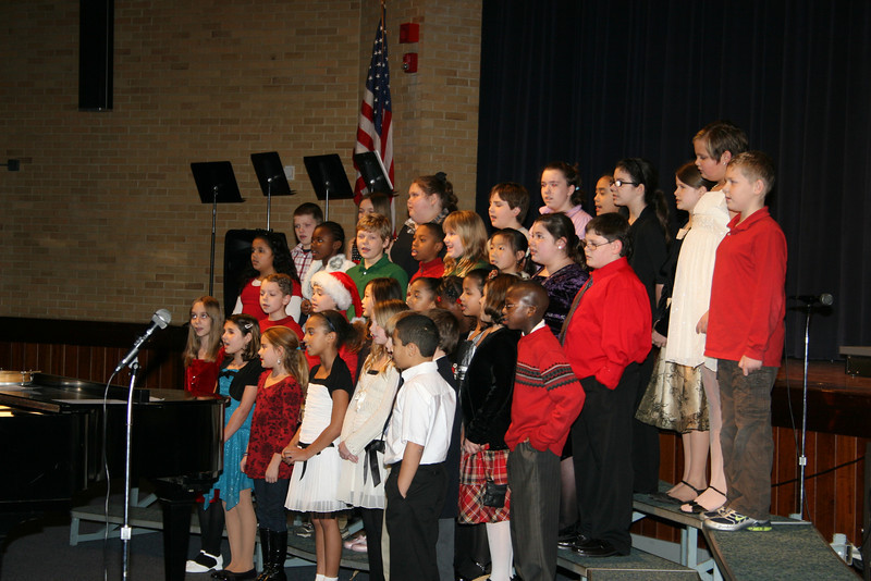 Michael was in the choir at his concert- he's in the back row all the way to the left