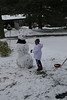 Gianna builds a snowman with Romi and Jenna at their new house