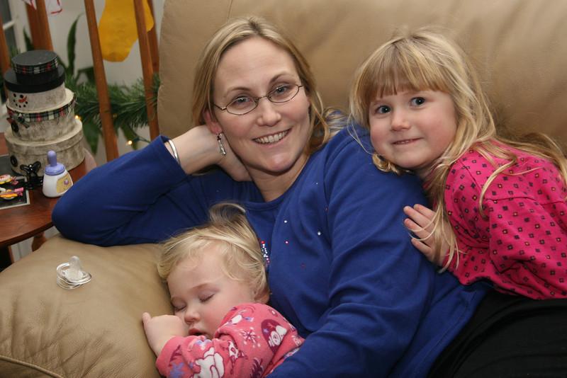 Me with my sleepy girls