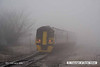 080219-010    Ex TransPennine class 158 unit no 158773 disappears into the freezing fog as it passes Netherfield with the 07.59 Nottingham to Skegness.