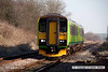 080216-030     A pair of Central green class 153 units, no's 153385 & 153384 are captured passing through Elton & Orston with the 13.32 Skegness to Nottingham.
