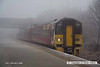 080219-018    Ex TransPennine class 158 unit no 158770 emerges from the freezing fog as it passes through Netherfield with the 07.40 Sheffield to Norwich.