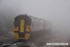 080219-009    Ex TransPennine class 158 unit no 158773 disappears into the freezing fog as it passes Netherfield with the 07.59 Nottingham to Skegness.