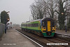 080220-002     East Midlands Trains 'Central' green class 158 unit no 158847 is seen at a foggy Burton Joyce, with the 07.10 Lincoln to Nottingham.