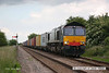 080614-025     Direct Rail Services class 66/4 no. 66420 on hire to Freightliner, captured passing Bingham with the diverted Intermodal, 4M87 Felixtowe - Crewe Basford Hall.