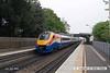 080504-044      A pair of East Midlands Trains class 222 Meridian units speed through Beeston with a unidentified working. The front unit was unidentified, the rear unit (nearest) is 222017.