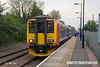 080509-020     East Midlands Trains class 156 unit no. 156414 calls at Bleasby with the 12.35 Leicester to Lincoln Central.
