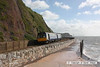 080705-004     First Great Western class 142 pacer unit no. 142070 heads on to the sea wall at Teignmouth with, the 08.13 Paignton - Exmouth.