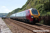 080630-004     Cross Country Trains class 221, super voyager no. 221124 speeds along the sea wall at Teignmouth with the 14.01 Paignton - Newcastle.