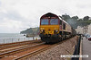 080710-002     EWS class 66/0 no. 66139 passes through Dawlish, powering train 6B99, 15.40 Tavistock Junction - Newport ADJ, loaded scrap.