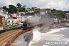 080706-006     Southern Railway 'Battle of Britain' 4-6-2 no. 34067 Tangmere clags its way along the sea front at Dawlish, powering 'The Torbay Express', train 1Z27 09.18 Bristol Temple Meads - Kingswear.