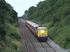 073 coasts down Ballybrophy Bank with the 0725 Killarney - Heuston G.A.A. Special. Sun 31.08.08