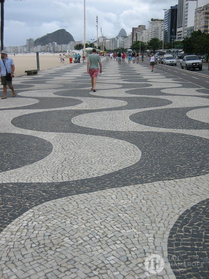 Wave Pattern Sidewalk of Copacabana