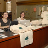 March 17, 2010 | Students and staff member Cris help sell t-shirts and bags for the Environmental Law Association (ELA).