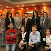 Ambassador Shankar Sharma of Nepal with GW Law students after his lecture.<br /> (photo by Abdul El-Tayef/WPPI)